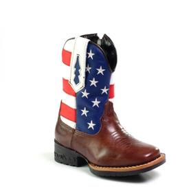 Bota Texana Bandeira Dos Eua Infantil - Sapatos para Meninos no ... 91ba3c64111