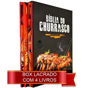 Biblia Do Churrasco Box Lacrado 4 Livros Receitas Carnes