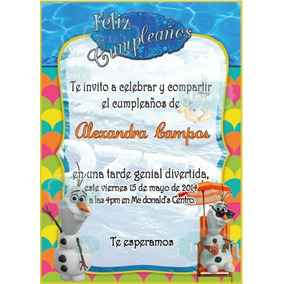Kit Imprimible Fiesta Frozen Olaf + Candy Bar Personalizad