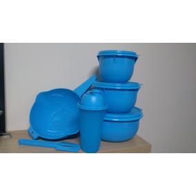 Tupperware Vasilhas Tigela Batedeira Kit Azul - 6 Peças