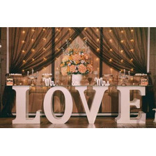 Letras Love De Trupan Grande Para Mesa Eventos + Luces Led