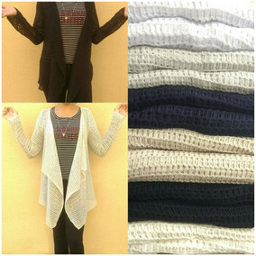 Kimono Fem Trico Tricot Blusa Cardigan Fem Ñão Vest G