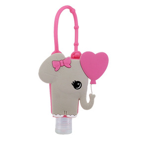 Álcool Gel De Mão 30ml + Capa De Silicone Elefante Baby Bath