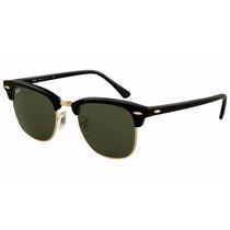 Oculos Rayban Clubmaster Original Preto Feminino Masculino