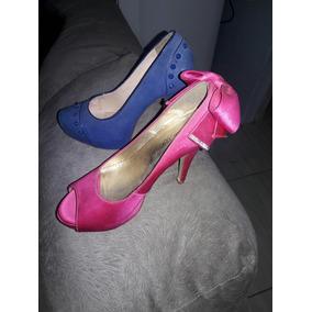 Sapatos Numero 35 Rosa 50 Reais E Azul 30 Marca Século