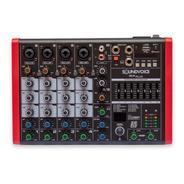 Mesa 6 Canais Usb Efeito Eq Grafico Usb 48v Mc6 Plus Pro
