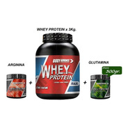 Whey Protein 3 Kg  + Glutamina + Arginina Body Advance