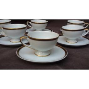 6 Duos De Tazas De Cafe Porcelana Tsuji Embassy