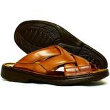Chinelo Sandalia Masculina Super Conforto 100% Em Couro 3055