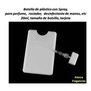Botella Plástica  Spray Rociador 20 Ml,  Modelo Tarjeta X10