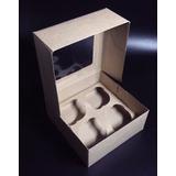 Cajas Marrón Cartón Para 4 Cupcakes Y 9 Minicupcakes