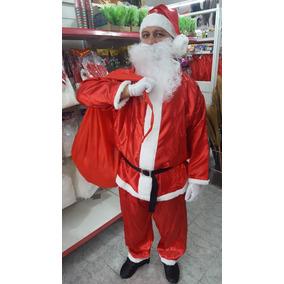 Disfraz De Papa Noel De Raso Con Bolsa