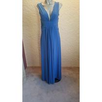 Vestido Nuevo Para Noche Color Azul Maria Isabel