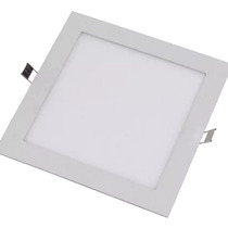 Pack X10 Panel Plafon Led Cuadrado 18w Embutir Calido O Frio