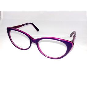 Armação P/ Óculos De Grau Feminino Gatinho Roxo Italy Design