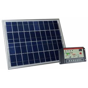 Kit Painel Fotovoltaico 30w + Controlador De Carga 10a Solar