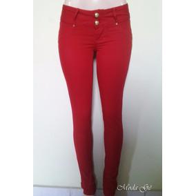 Calça Jeans Feminina Colorida Tenho Cintura Alta