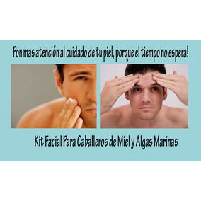 Kit Facial Miel Y Algas Marinas Exclusivo Para Caballeros