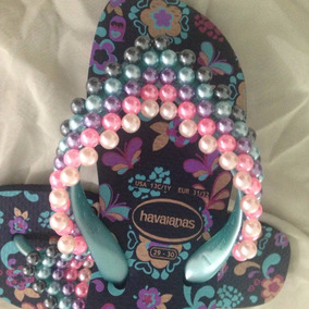 Chinelo Havaiana Top Original Infantil Bordada Customizada