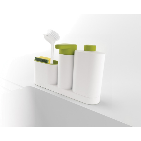 Dispenser 3 En 1 Jabon Detergente Esponja Organizador Sink