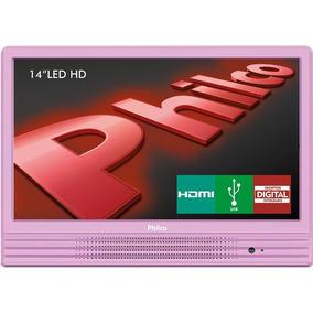 Tv Led 14 Polegadas Philco Ph14e10db Hd Conversor Rosa