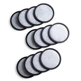 12-premium Pack Carbón Activado Disco De Filtro De Agua Para