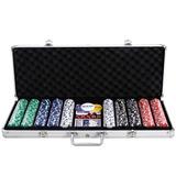 Juego Completo Poker 500 Piezas Maletín De Aluminio