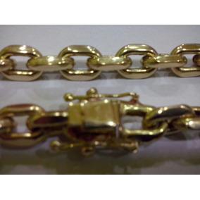 Cordão Modelo Cartier Cadeado (oco) Ouro 18k 750