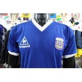 Camiseta Argentina Maradona De Mexico 86 Retro Visitante Xdx