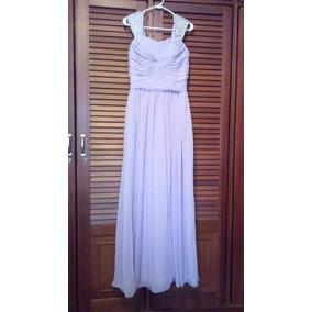 Bello Vestido De Noche Elegante Color Lila Talla M