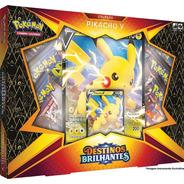 Cartas Pokemon Box Pikachu V Destinos Brilhantes Tcg Copag