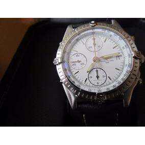 Relógio Breitling Chronomat Safira Pulseira De Couro