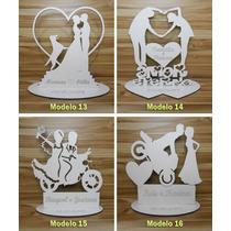 Lembrancinha De Casamento 22 Modelos Mdf Cor Branca 10x10cm