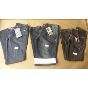 Lote Com 3 Calças Jeans Nova N° 08,10 E 14 Anos
