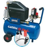 Compresor Gamma 2801k 2 Hp 24 Litros Kit Pintar Selectogar6