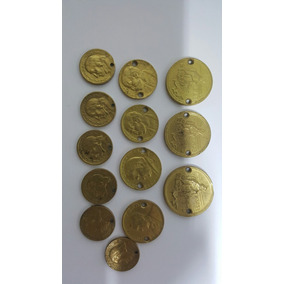 Moedas Antigas 10/20/50 Centavos 1/2 Cruzeiros (lot Com 13)
