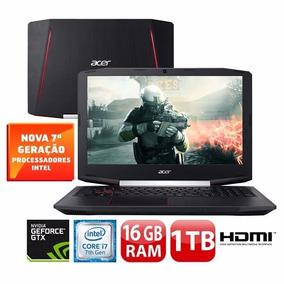 Notebook Gamer Acer, I7 16gb,gtx 1050 4gb, 1tb 15,6, W10