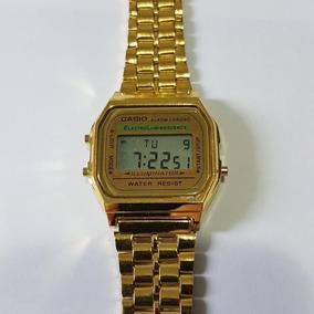 b81abea25e7 Relogio Digital Feminino Dourado Redondo - Relógio Casio no Mercado ...