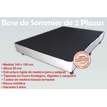 Base Sommier Box Somier Cama 2 Plazas