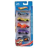 Brinquedo Infantil Hot Wheels Kit C/ 5 Carros Basicos Mattel