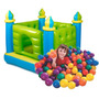 Castillo Inflable Intex Pelotero 132 X 132 + Pelotas Colores