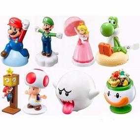 Coleção Complet 8 Brinquedos Super Mario Nintendo Mc Donalds
