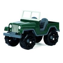 Brinquedo Jeep Exército Brasileiro Miniatura Plástico 24cm