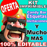 Kit Imprimible Etiquetas Escolares Clash Royale Promo 2x1