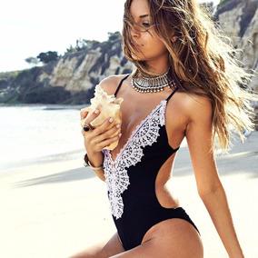 Traje De Baño Bikini Completo Sexy Playa Swimwear Encaje