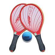 Kit Raquete Frescobol De Praia Impar Sports + Bolinha