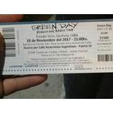 Entradas, Green Day, Platea Sur A. Liquido!!