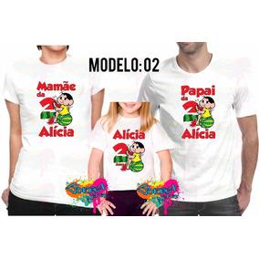 Promoção 3 Camisa Camiseta Personalizada Festa Magali