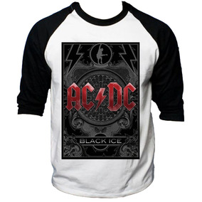 Camisa Raglan 3/4 Acdc Hard Rock Album Back Hell Tnt #1