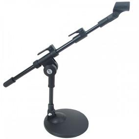 Pedestal Para Microfone De Bumbo Mesa Mini Girafa + Cachimbo
